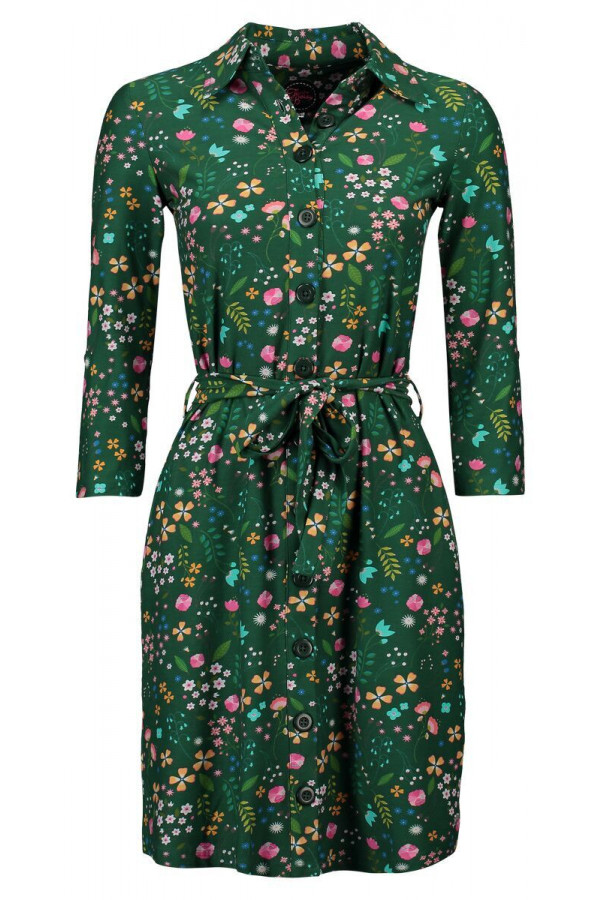 SHIRT DRESS LOVELY GREEN