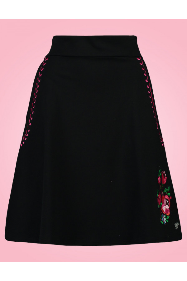 A LINE SKIRT FOLKI BLACK