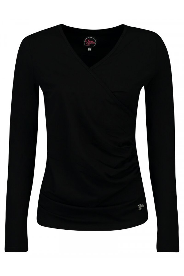 LOOSE CROSS TOP BLACK
