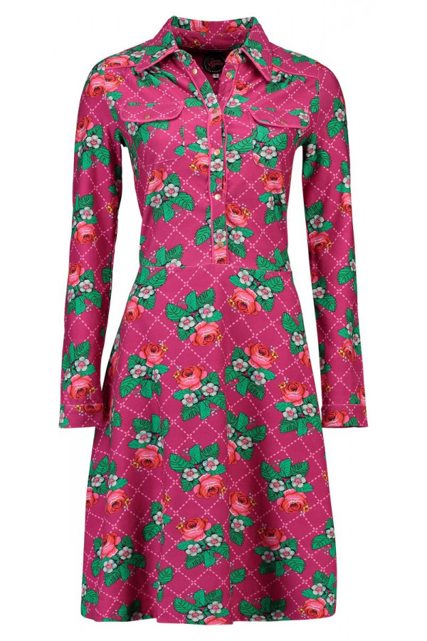 DRESS TEXAS ROSE STICH CERISE