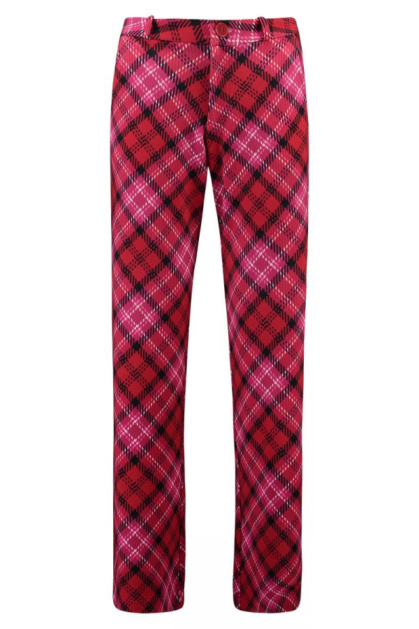 BAGGY TROUSERS TARTAN RED
