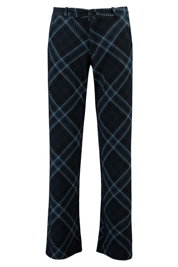 BAGGY TROUSERS TARTAN BLACK