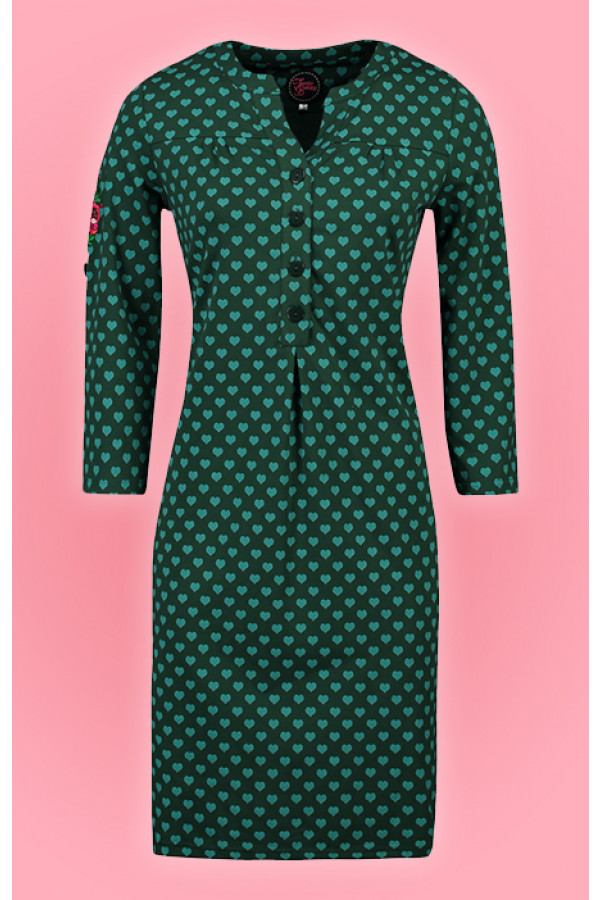 SOUP DRESS HEARTS GREEN