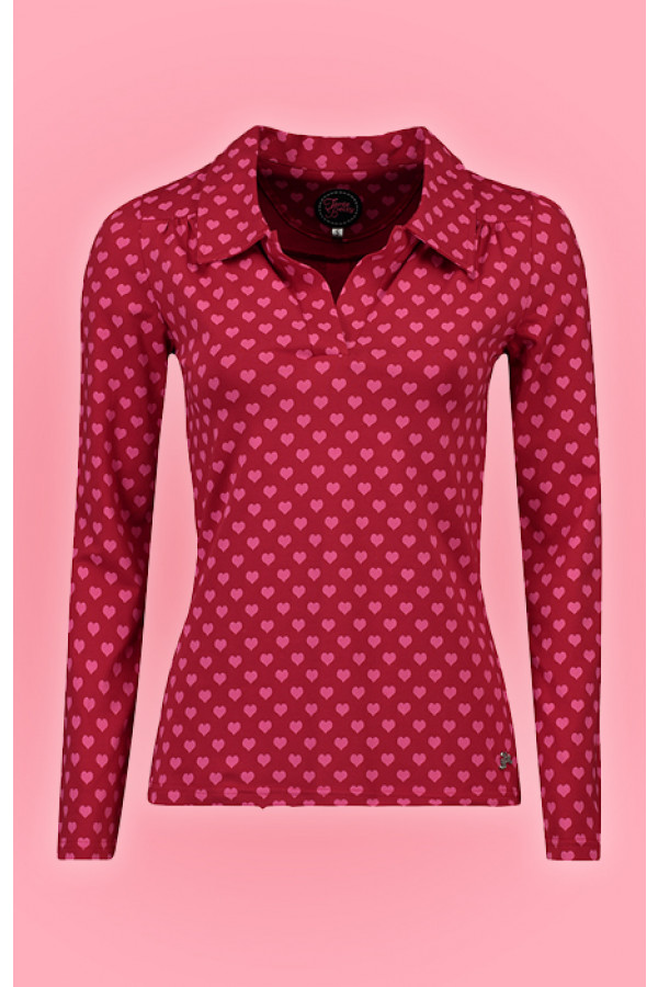 SHIRT NELLIE HEARTS RED