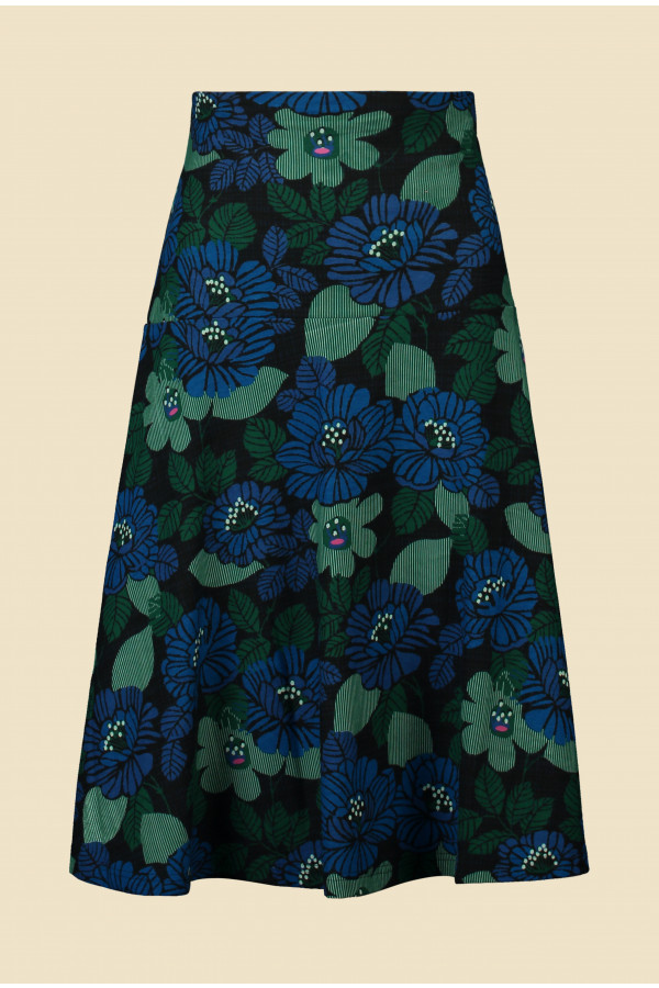 Skirt Paddy Forest Ink