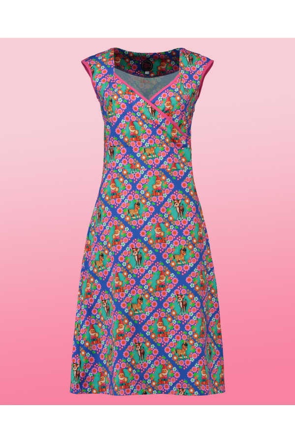 Summer Cross Midi Retro Kitsch Blue