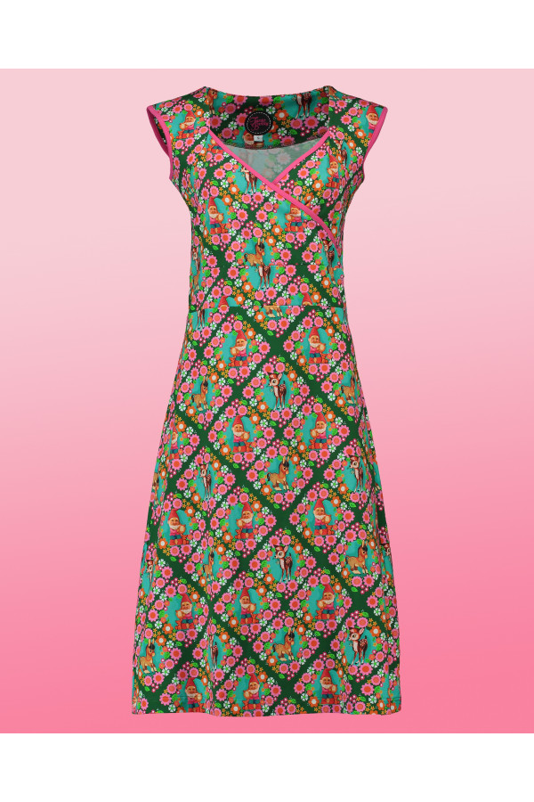 Summer Cross Midi Retro Kitsch Green